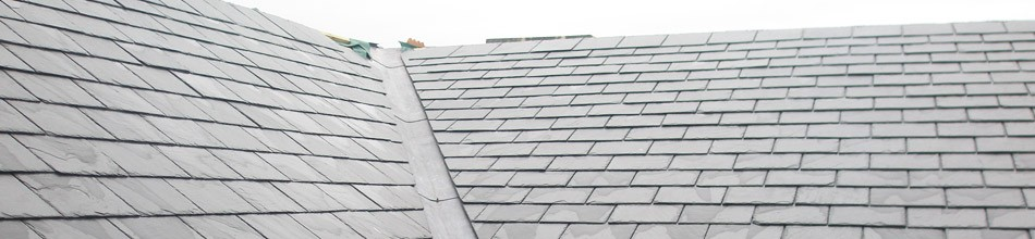 Slate tiles on a roof in Bristol