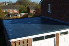 Garage roof in rubber
