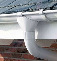 PVC gutter and downpipe